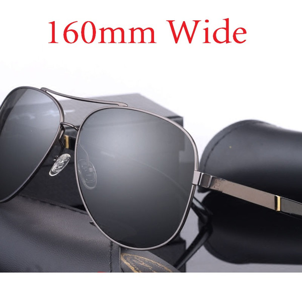 Vazrobe (160mm) Oversized Mens Polarized Sunglasses Driving Sun Glasses for Man Fat Face Wide Head Male Sunglass Aviation