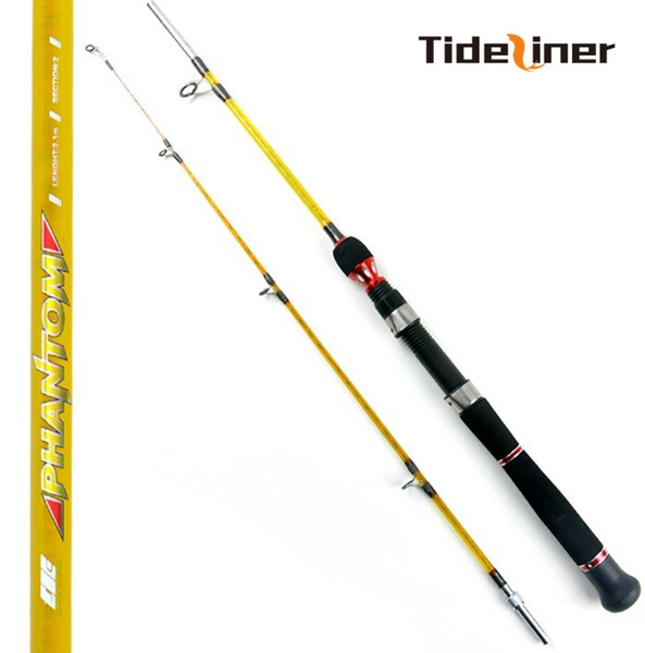 Tideliner 1.8m 2.1m 2.4m boat fishing rod 2 sections seafishing trolling jigging lure spinning fishing rods pole tackle