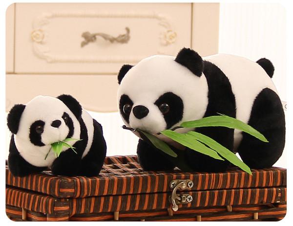 15 CM Мягкие игрушки Плюшевые игрушки Симпатичные Моделирование животных мило листьев бамбука панда кукла плюшевые игрушки