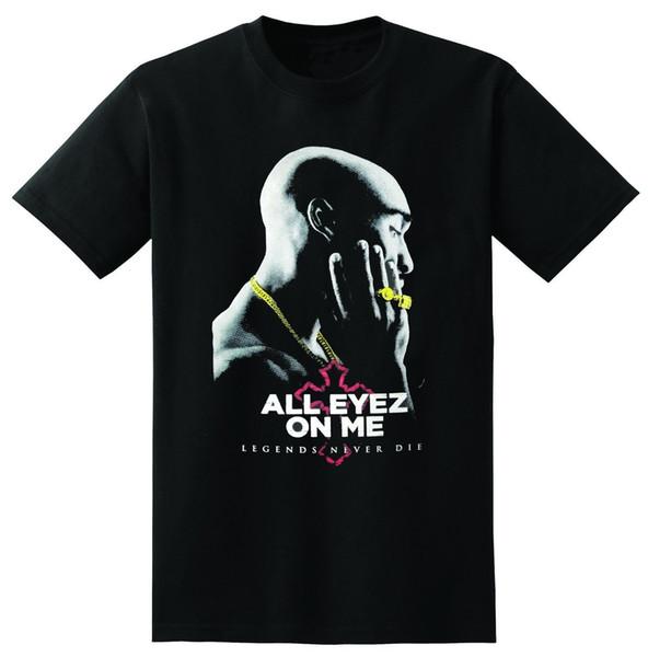 2PAC ALL EYEZ ON ME T-Shirt Hip Hop Rapper PAC Mens Black Tee Tupac Shakur Eyes Cool Casual pride t shirt men