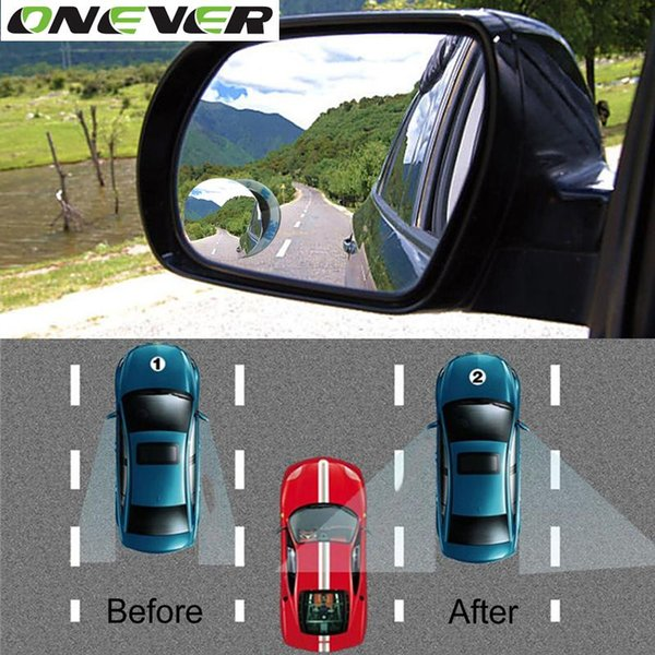 Clear Car Rear View Mirror 360 Rotating Safety Wide Angle Blind Spot Mirror Parking Round Convex Auto Exterior Accessories