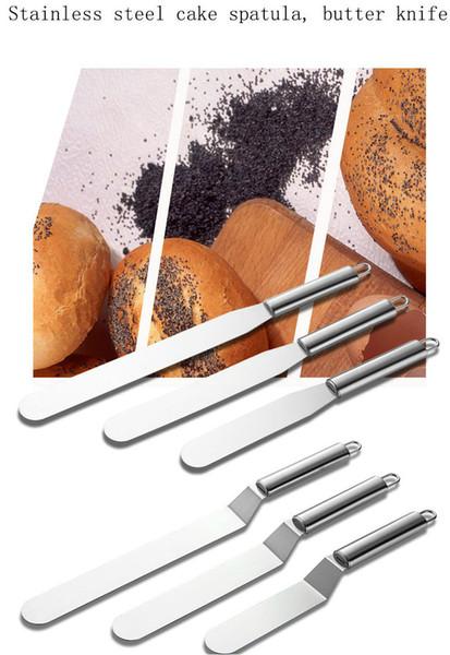 Hifuar 6/8/10 pollici in acciaio inox crema spatola per torta fai da te strumenti di decorazione della torta cucina cottura strumenti pasticceria torta burro coltello