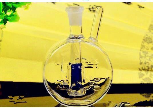 Flacher Topf mit Wasser-Flaschen, Großhandelsbongs-Öl-Brenner-Rohre Wasser-Rohr-Glasrohr-Öl-Anlagen, die freies Verschiffen rauchen