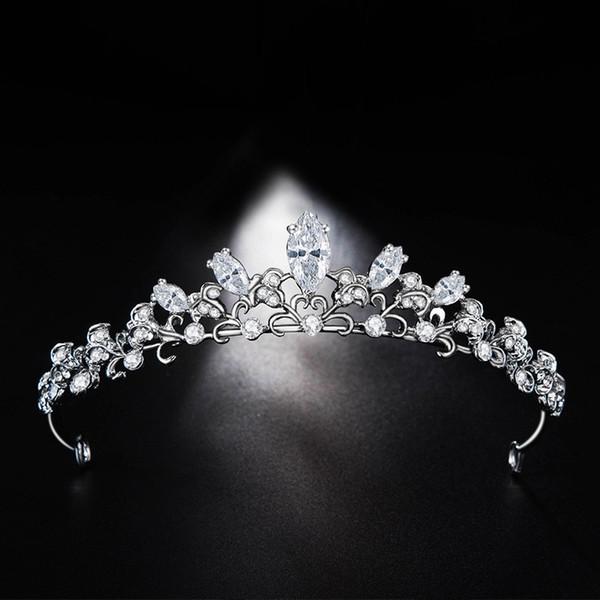 Nouveau épingles à cheveux mariée mariage tiara diadème Bijoux de cheveux boucle strass zirconium