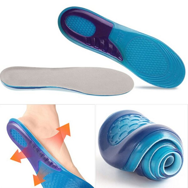 Health Unisex Silicone Gel Orthotic Arch Support Massaging Sport Shoe Insole Run Pad For FEMALE 2017 Hot