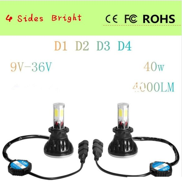 80W/Pair G5 Auto Led Headlight For D1/D2/D3/D4 6000K White 3000K Yellow Lighting 4800Lm Car Light Assembly Auto Front Lamp