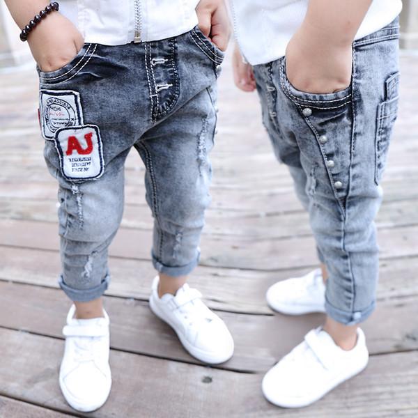 separation shoes 44dad a467d Cowboys Jersey Boys Jeans Kids Letter Patchwork Cotton Fashion Baby Boy  Leggings Children Trousers Designer Jeans Clothes 2 7T Boys Jeans Size Boys  ...