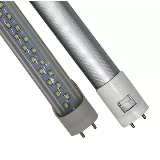 T8 G13 4ft tube light lamp 1.2m 8ft 2.4m 28W 65W Double Row Led Tube 1200mm 2400mm SMD2835 85-265V Led tubes fluorescent Lighting ce rohs UL
