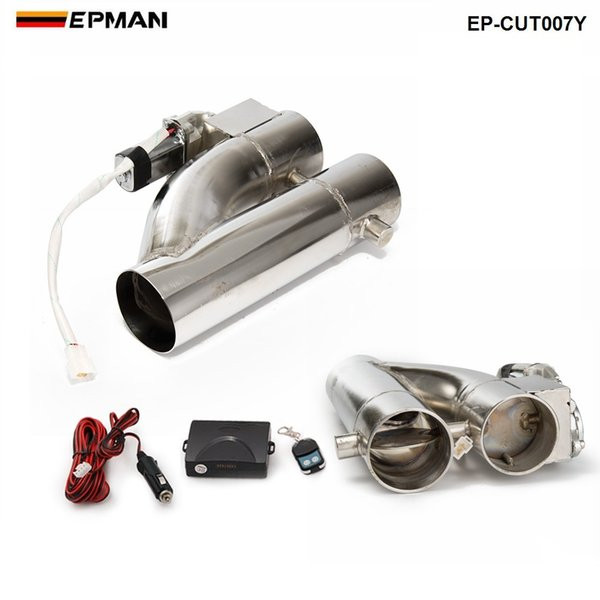 """top popular 2""""  2.25""""   2.5""""   3"""" Exhaust Piping Patented Product Electric Exhaust Downpipe Cutout E-Cut Out Dual-Valve Controller Remote Kit EP-CUT007Y 2021"""