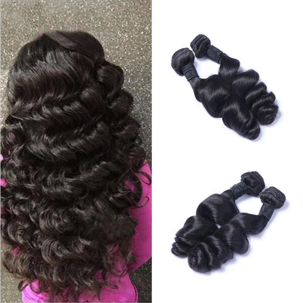 Malaysian Virgin Human Loose Wave Weave 8-30 inch 100grams/piece Virgin Hair Natural Black 2pcs/lot Hair Extensions With free Shipping