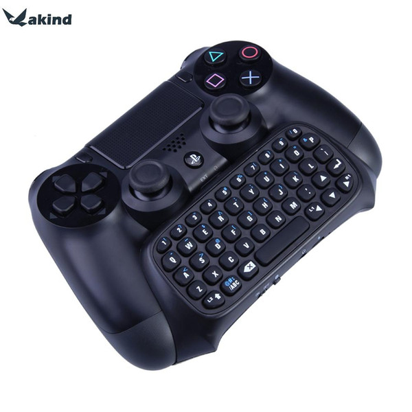 2in1 Wireless Bluetooth Keyboard Mini Chatpad Message Keyboard Game Consoles for PlayStation 4 for PS4 Controller