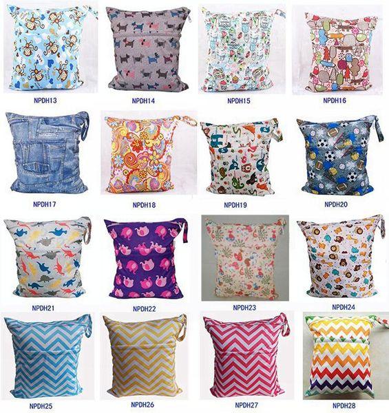 best selling Newborn Waterproof Zippered Wet Dry Bag Laundry - Owl Wet   Dry Cloth Diaper Bags Wet Swimsuit Bag Animal Printed by Melee WetBag 33*28cm