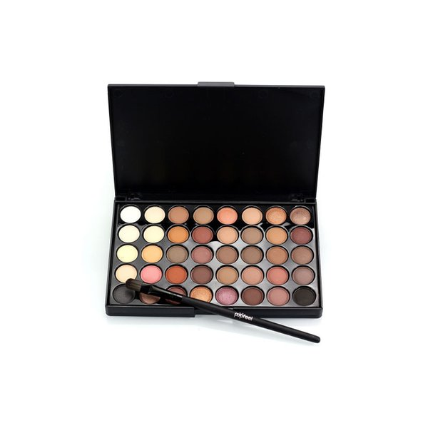 BKLD 40color eye shadow palette warm color department flashing diamond glittering sootiness makeup pearl color eye shadow tray