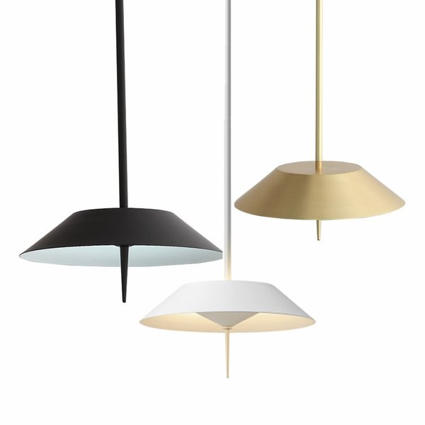Modern Rose Gold Metal Pendant Lights White Flying Suspension LED Lamp Nordic Restaurant Bar Cafe Living Room Home Lighting G945
