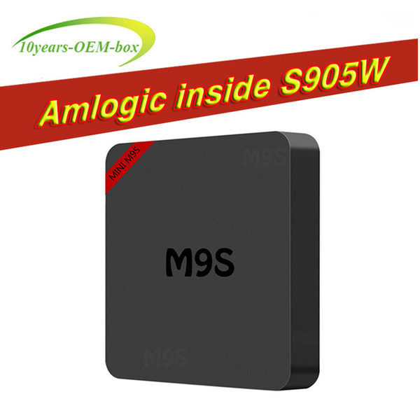 M9S mini S905W Android TV Box 1GB 8GB Quad Core 100M Lan 2.4G WiFi 4K VP9 HDR10 IPTV Android 7.1 Smart media player BEETER TX3 MXQ PRO
