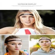 1pcs Thin Sports Elastic Headband Softball Hair Band Rubber Anti-Slip Women Hair Bandage Accessories
