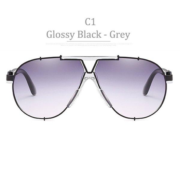 C1 Glosssy Black Frame Gradient Grrey