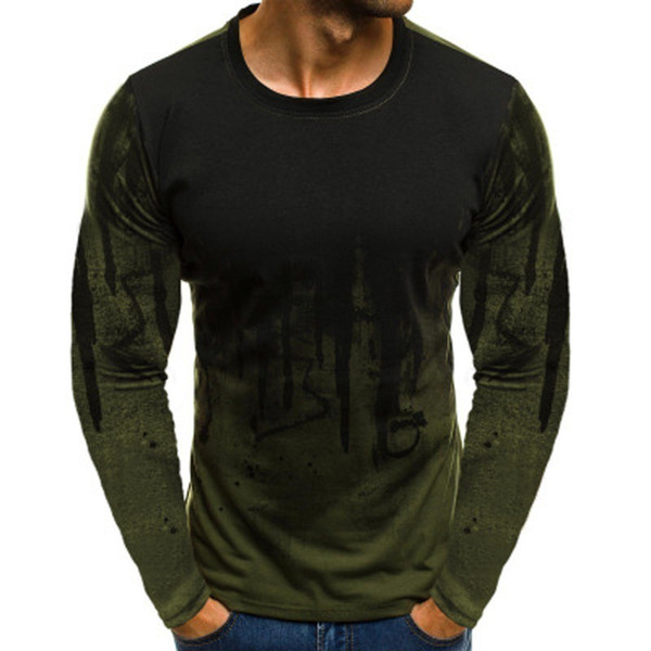 2018 New Men's Sweatshirt Sports Print Cotton O-neck Pullover Casual Full Sleeve Jogger Fashion Slim Personal Pattern Hot Sale