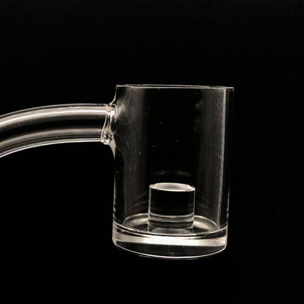 Flat Top 5mm Thick Bottom Quartz Banger Core Reactor 10mm 14mm 18mm Quartz Thermal Banger Nails For glass oil burner pipe