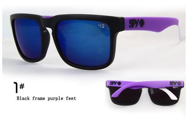 Atacado- New Fashion SPY 1 geração óculos de sol reflexivos multicoloridos óculos de sol personalidade óculos espião esportes 18 cores