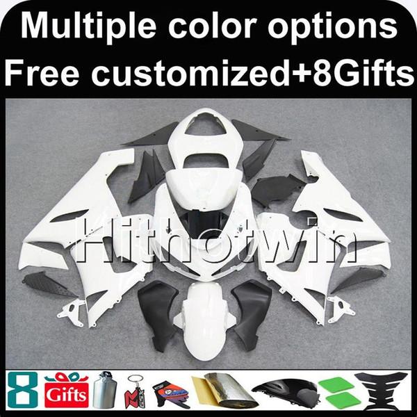 23colors + 8Gifts weiße Karosserie Motorradverkleidung für Kawasaki ZX-6R 2005-2006 ZX6R 05-06 ABS Plastikverkleidungen