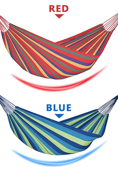 190*150cm 2 Person Hammock hamac outdoor Leisure bed hanging bed double sleeping canvas swing hammock camping hunting