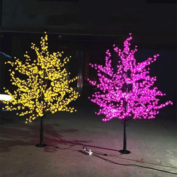 LED Artificial Cherry Blossom Tree Light Christmas Light 1152pcs LED Bulbs 2m/6.5ft Height 110/220VAC Rainproof Outdoor Use Free Shipping