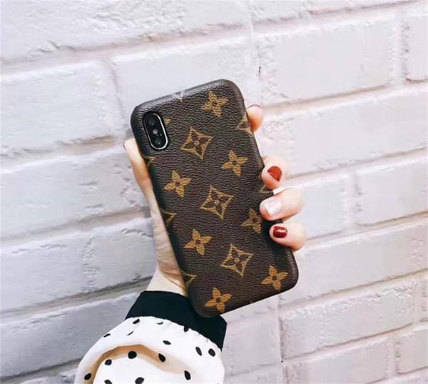 Moda de lujo caja del teléfono para el iphone X XR XS Max 6 6 s 7 8 Plus cubierta posterior para Galaxy Note 9 Note8 S9 S8 S8plus estuches de cuero de regalo
