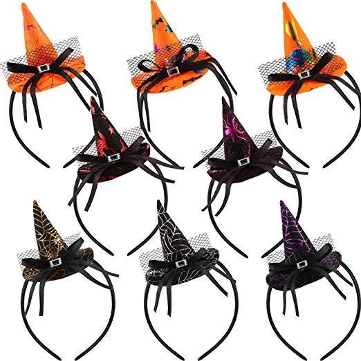 Halloween Headband Abóbora Bruxa Chapéu de Teia de Aranha Headbands Bonés de Natal Óculos Frames para Crianças Família Xmas Halloween Party Enfeites de Presente