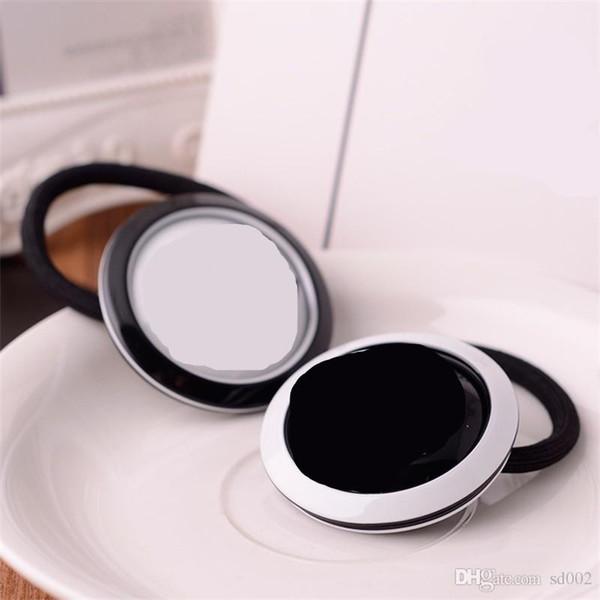 Accesorios para la cabeza de moda Ronda de la cuerda del pelo de las mujeres de la venda de goma de la vendimia de lujo C Style Lady Designer negro blanco 6 5kf Ww