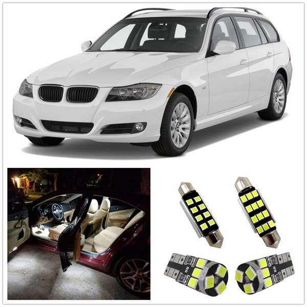 WLJH 14pcs Canbus Error Free LED Bulb Car LED Light for BMW E90 M3 Interior lighting kit 3 Series - 328i 330i 335i Package