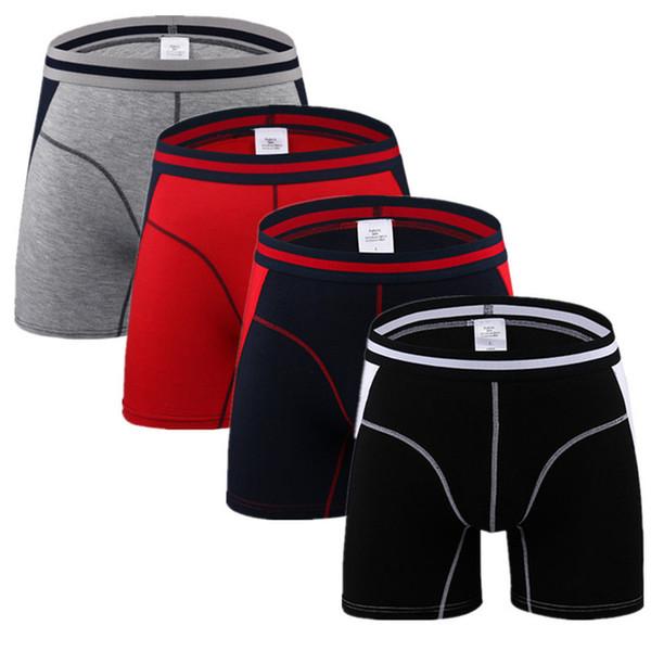 4pcs / Lot Marque Hommes Sous-vêtements Sexy Boxers Hommes Boxer Shorts Hommes Confortable Hombre Homme Culotte Homme Calzoncillos