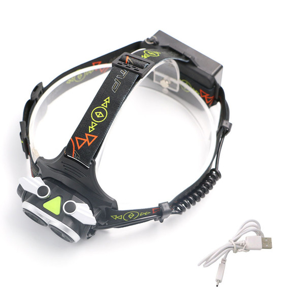 6000LM XML L2 LED Zoomable Focus Headlight 18650 Rechargeable Headlamp Head Lamp Camping Lantern Light 4 Mode Torch +USB Charger