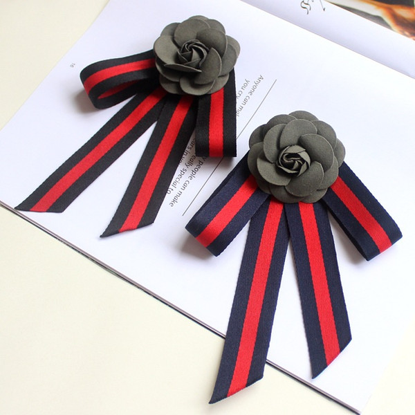 Fashion star with the trend of the shirt collar flower uniform student uniforms bow tie big bow brooch brooch tie