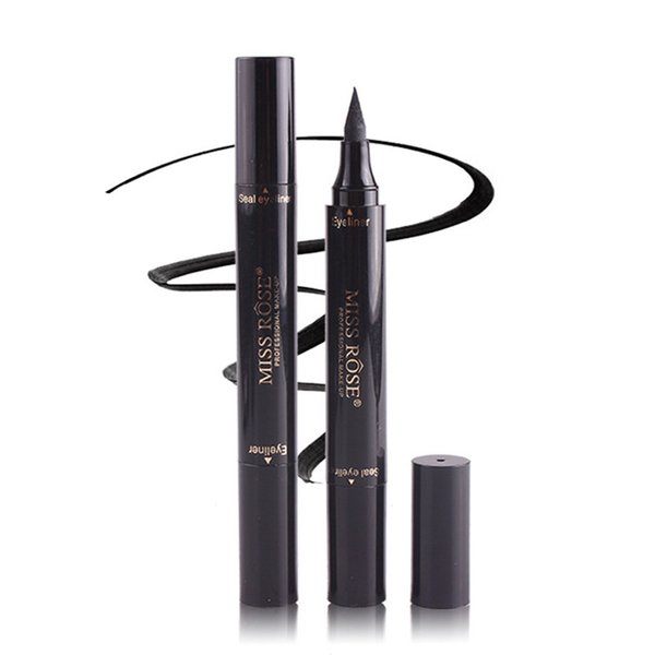 2018 new makeup Miss Rose Stamp Eyeliner & Seal Pencil Professional Eye Makeup Tool Double Heads Two Heads Eyeliner Pen
