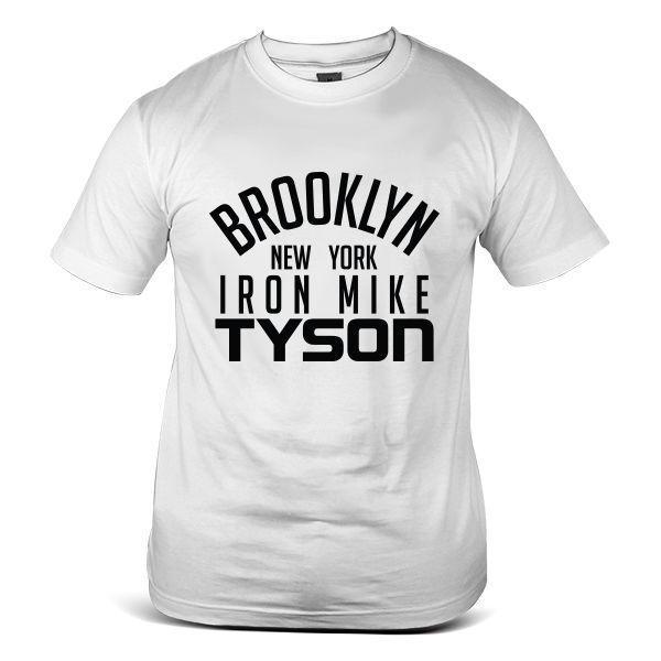3548-WH Mike Tyson Boxing Hipster Celebrity Casual MMA Fashion White Men T-Shirt