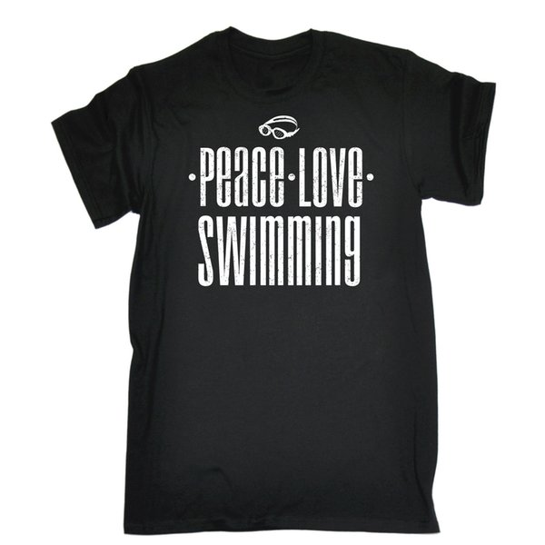 Peace Love Swimming T-SHIRT Swim Accessories Team Clothing Gift birthday funny