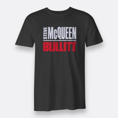 Compre Bullitt Steve McQueen T Shirt Dos Homens Negros Tamanho S 3XL ... 0f267ac7241f3