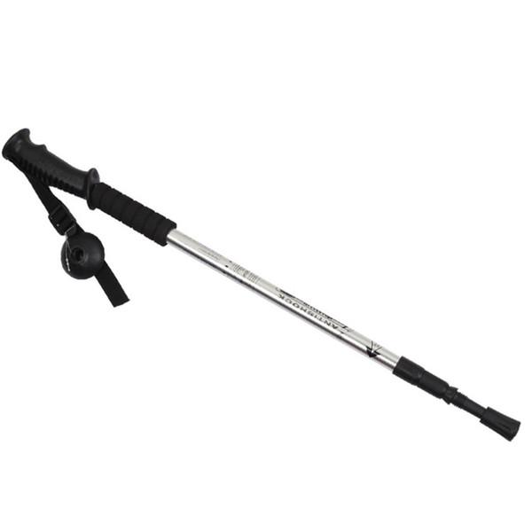 Alpenstocks 3-Section Adjustable Aluminum Alloy Canes Ultralight Pole Walking Camping Hiking Trekking Sticks Plastic Handle