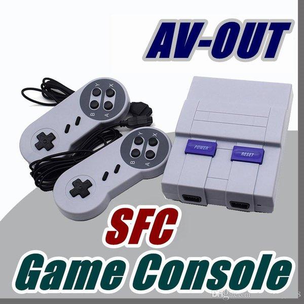 AV-OUT SFC Toptan gamepad Yeni Varış Mini TV Oyun Konsolu Video Perakende kutuları ile NES oyunları konsolları için El H-JY