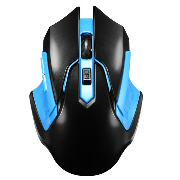 3D Cool 2.4GHz Optical Wireless Mouse 1200 DPI 6 Keys Gaming Mice For Computer 10 Meter Plastic Blue Black Color Wireless Mouse