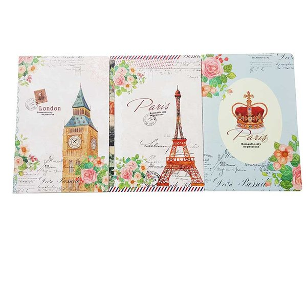 6pcs/lot NEW vintage fresh Paris & London notepad A5 book Daily NotDiary Journal Office material supplies
