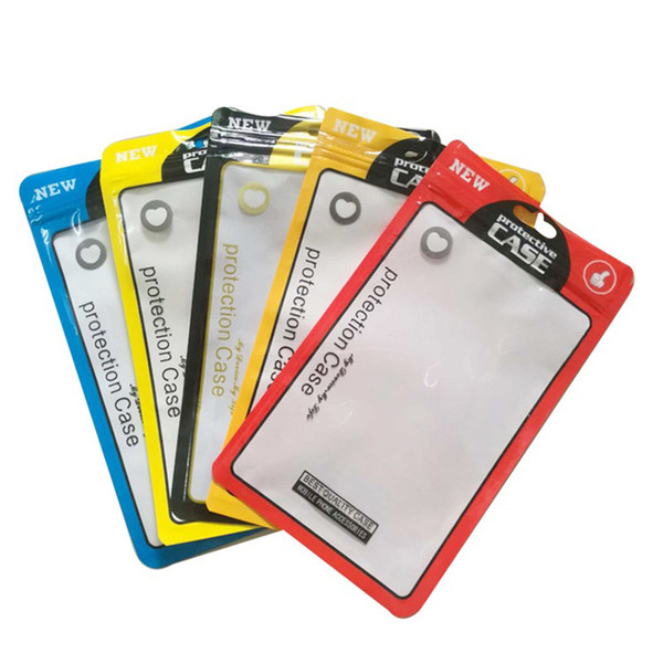Quevinal 5000Pcs/ Lot 12*21cm Plastic Zip Lock Cell Phone Case Event Bags With Hole For Mobile Phone Shell Packaging Zipper Bag