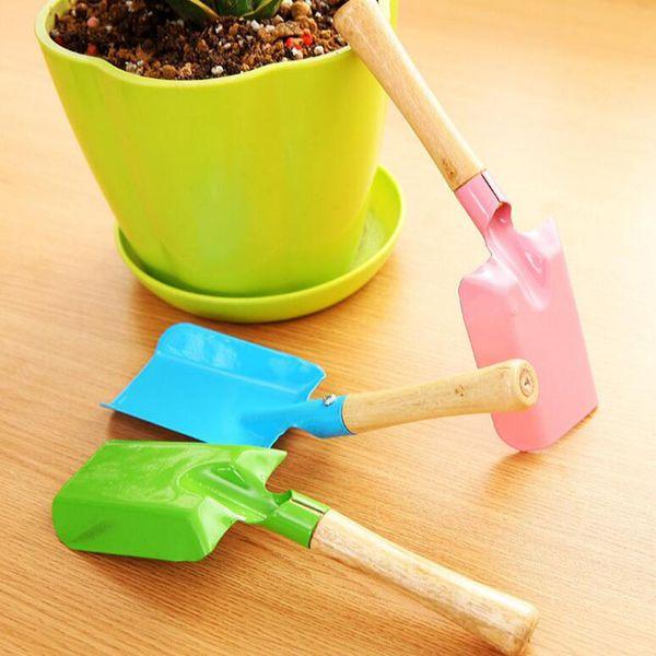 Green flower pot mini Gardening Shovel multi-functional Colorful Metal small shovel home gardening tools Kids Spade Tool wholesale