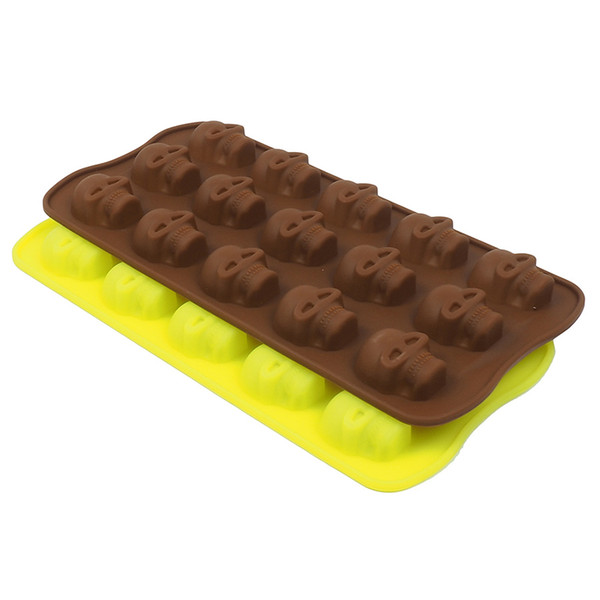 Skull shape cake kitchen cooking tool bakeware silicone mold of chocolate candy manufacturer of ice tray of the bar from the mold tool sugar