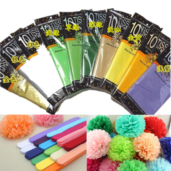 30pack 50x66cm Paper Flower Wrapping Paper Gift Packaging Craft Paper Roll