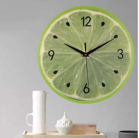 Großhandel Kreative Runde Digital Wanduhren Modern Style Wohnzimmer Schöne  Wassermelone Zitrone Kiwifruit Fruchtform Hängende Uhr # 10 Von Sabonhome,  ...