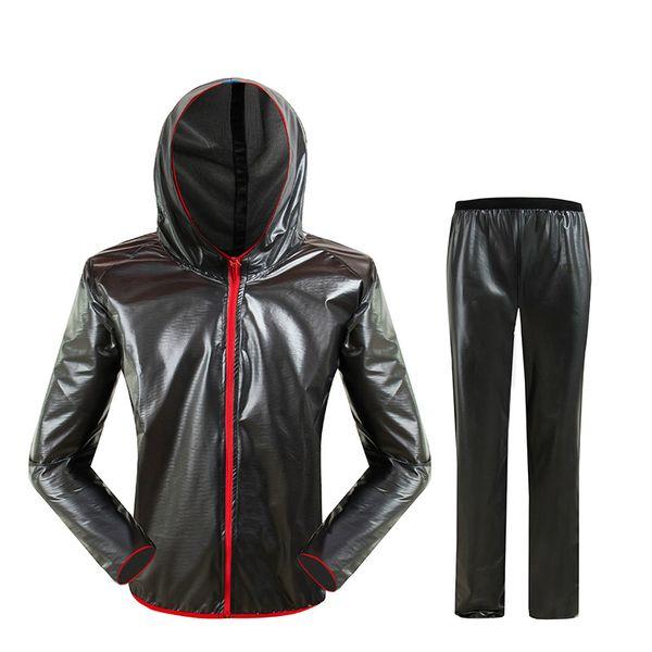 Impermeabile impermeabile impermeabile all'aria aperta Moda Sport impermeabile Uomo per donna Grigio equitazione impermeabile per motociclisti Giacca antipioggia per adulti HW-SDD1