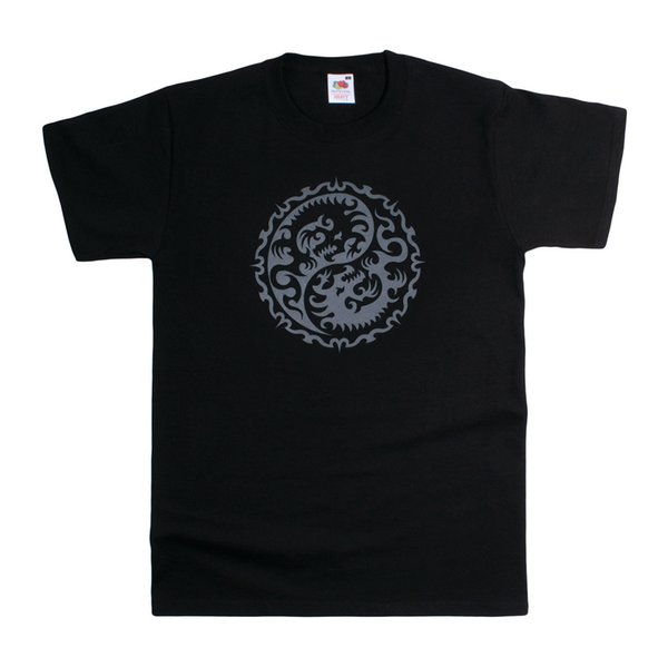Yin Yang T Shirt Dragon Taoism Martial Arts Yoga Tai Chi Tattoo Taijitu  Kung Fu Mens 2018 Fashionable Brand 100%cotton Printed Round Buy Tee Top T