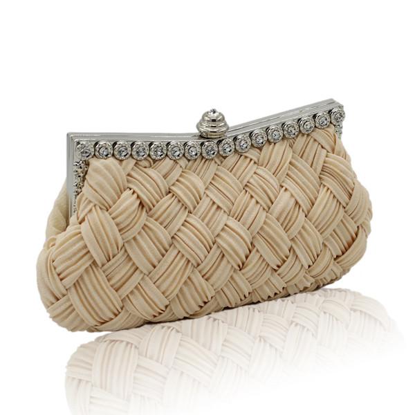 2019 Fashion Clutch ragazze Hangbags estate tessuto paglia Donne piccole mini borse a tracolla frizione femminile borsa a tracolla moneta sacchetto borse